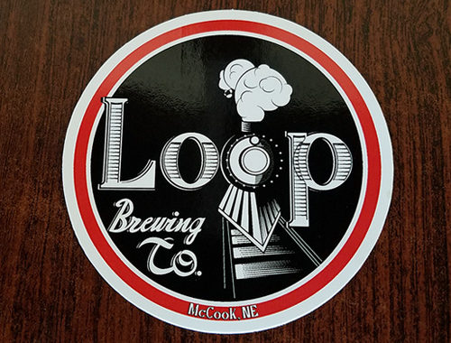 Stickers - Loop Brewing Company - McCook, NE